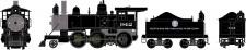 Athearn 87213 DRGW Dampflok 2-6-0 Mogul DCC ready