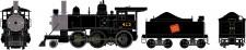 Athearn 87220 CN Dampflok 2-6-0 Mogul DCC ready