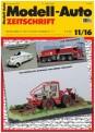Modell-Auto Zeitschrift 1116 MAZ - Modell Auto-Zeitung 11/2016