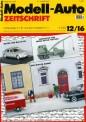 Modell-Auto Zeitschrift 1216 MAZ - Modell Auto-Zeitung 12/2016