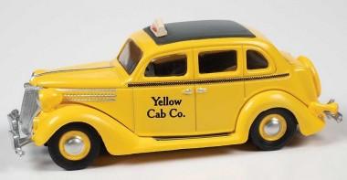 Classic Metal Works 30611 Ford Fordor Sedan Yellow Cab Taxi