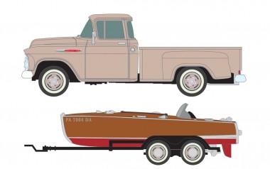 Classic Metal Works 40013 1957 Chevrolet 3100 Step-Side Pickup mit
