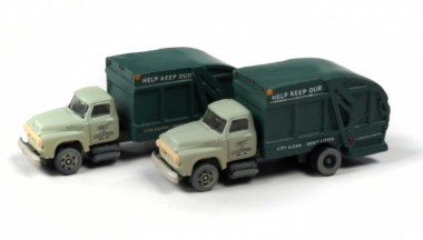 Classic Metal Works 50409 2x Ford Garbage Truck 1954