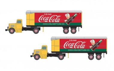 Classic Metal Works 51187 2x WC22 LKW mit Anhänger - Coca Cola