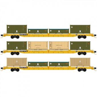 MTL 99301900 DODX Flachwagen-Set 3-tlg Ep.5/6