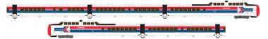 Rapido Trains 520004 Amtrak Triebzug TurboTrain 5-tlg Ep.4