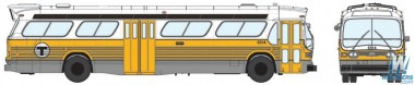 Rapido Trains 701011 GM New Look/Fishbowl Bus Boston MBTA