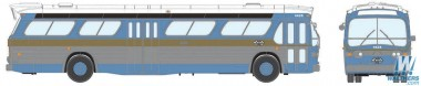 Rapido Trains 701035 GM New Look/Fishbowl Bus St. Louis