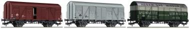 Fleischmann 531104 NS gedeckte Güterwagen-Set  3-tlg Ep.4