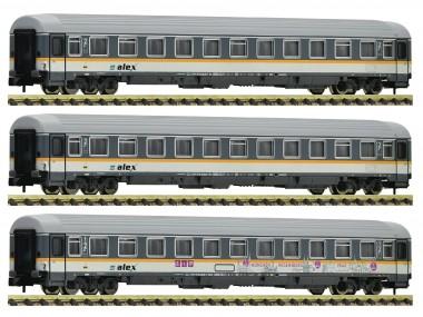 Fleischmann 881901 ALEX Personenwagen-Set 3-tlg. Ep.6