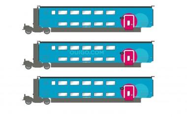 Jouef HJ3010 SNCF OuiGo TGV Ergänzung 3-tlg Ep.6