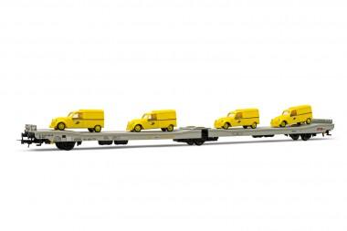 Jouef HJ6205 STVA Autotransporter beladen Ep.4