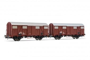 Rivarossi HR6507 FS Gedeckte Güterwagen-Set 2-tlg Ep.4/5