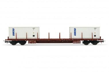 Rivarossi HR6523 FS Flachwagen m. Container Ep.4/5