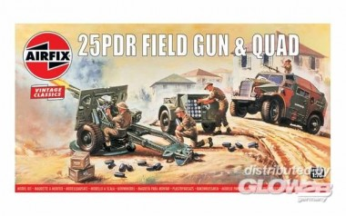 Airfix 01305V 25pdr Field Gun & Quad-Vintage Classics