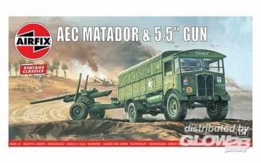 Airfix 01314V AEC Matador & Gun - Vintage Classics