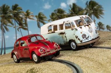 Scalextric 03966A VW Beetle/Camper Van - W.C. Rat HD