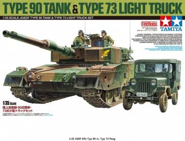 Tamiya 25186 JGDF KPz Typ 90 m. Typ 73 Fhzg.