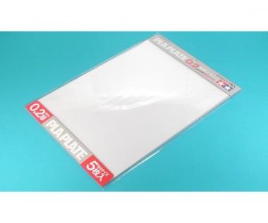Tamiya 70126 Kunststoff-Platte 0,2mm (5) klar 257x364