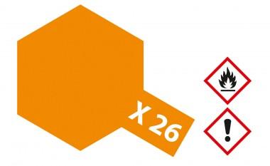 Tamiya 81026 X26 - Klar-Orange glänzend 23 ml
