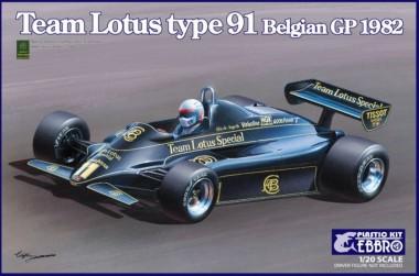Ebbro 20019 Team Lotus Type 91 Belgian GP 1982