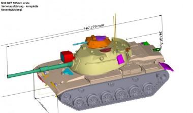 Armour87 114102111 M60 KPZ 105mm erste Serienausführung