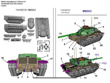 Armour87 114102131 M60A3 Kampfpanzer 105mm