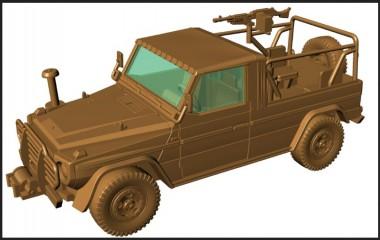 Armour87 224200301 M1511 IFAV mit MG240G 7,62 mm MG
