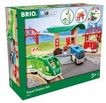 Brio 33627 Reisezug Set mit Busbahnhof