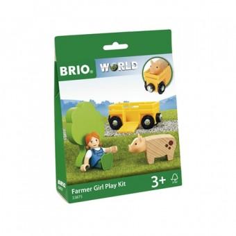 Brio 33875 PlayKit: Bäuerin mit Schwein