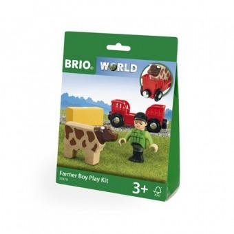Brio 33879 PlayKit: Bauer mit Kuh