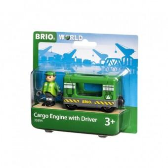 Brio 33894 Frachtlok mit Fahrer