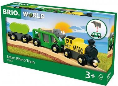 Brio 33964 Safari Zug mit Nashorn