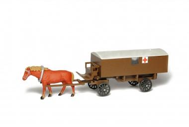 SDV model 441 Krankenwagen mit Pferd gezogen