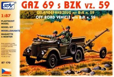 SDV model 87170 GAZ 69A mit BZK vz 59