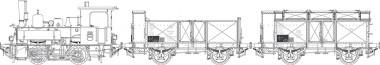 KM1 100009 DB Zugset Güterzug 3-tlg Ep.3b