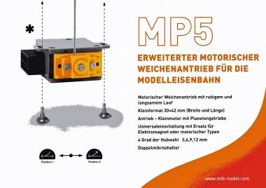 MTB MP5 Motorischer Weichenantrieb Z/N/TT/H0/0