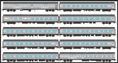 Auscision NPS-16 V-Line Personenwagen-Set 10-tlg Ep.4