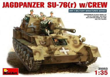 MiniArt 35053 Deutscher Jagdpanzer SU-76 (r) mit Crew