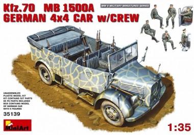 MiniArt 35139 Kfz.70 MB1500A German 4x4 Car