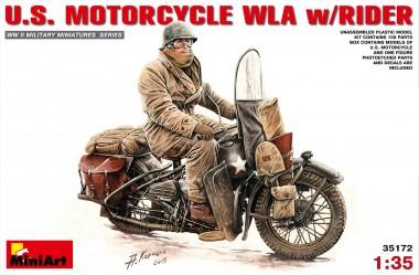 MiniArt 35172 U.S. Motorcycle WLA with Rider