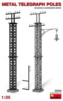 MiniArt 35529 Telegraphenmasten aus Metall