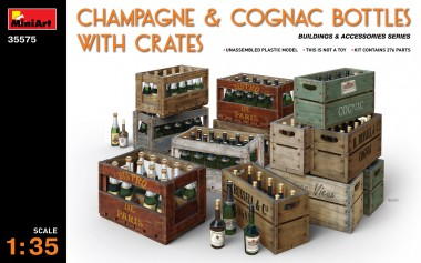 MiniArt 35575 Champagner/Cognacflaschen m. Kisten