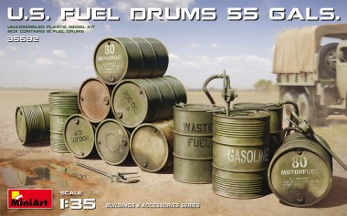 MiniArt 35592 U.S. Fuel Drums (55 Gals.)