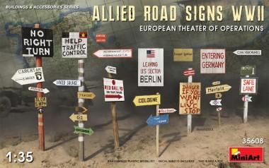 MiniArt 35608 Allied Road Signs - Euroean Theater o.Op