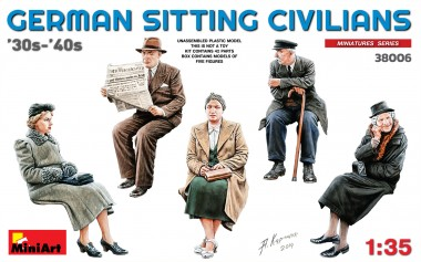 MiniArt 38006 German sitting Civilians  '30s-'40s