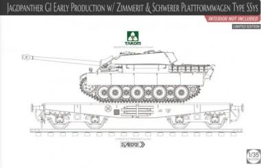 Takom 2125X Jagdpanther G1 & Schwerer Plattformwagen