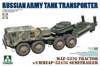Takom 5004 MAZ-537G TRACTOR w/CHMZAP-5247G trailer