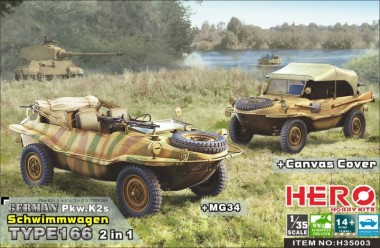 Belkits H35003 Schwimmwagen Type 166 (2in1 MG34 and ...