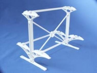 Gabriel 1021022 Tischständer für 3 Vitrinen weiß